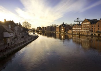 View of the River Ouse taken from Ouse Bridge (Large)